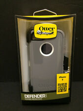 OtterBox Defender Hard Case w/Holster Belt Clip for iPhone SE 5S 5 (Gray/White)