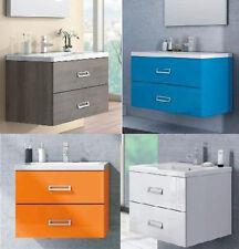 mobile da bagno in 30 colori con lavabo arredo moderno sospeso ante modello |bt6