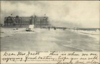 Edgemere Long Island NY Hotel & Beach c1905 Postcard