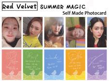 5pcs/set Kpop Red Velvet Summer Magic Paper Photo Cards Autograph Photocard New