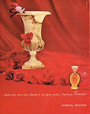 PUBLICITE ADVERTISING 124 1960  MARCEL ROCHAS  parfum ligne pure MADAME