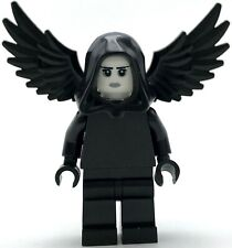 LEGO NEW ANGEL OF DEATH GRIM REAPER MINIFIGURE ALL BLACK WITH WINGS
