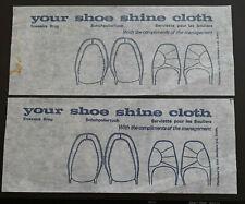 Your Shoe Shine Cloth x 2 Rare 1980's Hotel Accessories Dublin Ireland