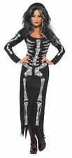 Smiffy's Skeleton Tube Halloween Dress Costume for Women - Medium