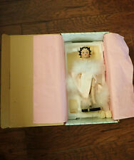 "Betty Boop Porcelain 11"" Doll ""Pretty In Pink"" In Original Box Complete"