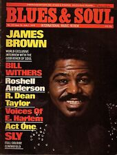 James Brown on Blues & Soul Issue Cover 137 1974    Sly Stone   Bill Withers