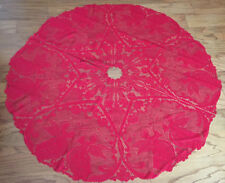 """Heritage Lace Polyester Red Tree Skirt Alpine Angels New 50"""" (744) Error"""