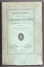 CARAYON RELATIONS INEDITES MISSIONS CONSTANTINOPLE & LEVANT AU XVIIe EO TURQUIE