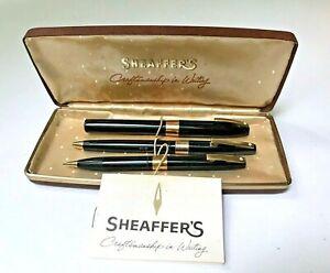 Sheaffer white dot presentation set original box engraved with name