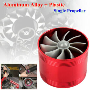 Single-sided Turbocharger Fan Turbine Gas Fuel Saver Aluminum Alloy Rubber Cover