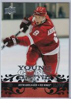 JUSTIN ABDELKADER Young Guns Rookie 2008 2009 Upper Deck #211 Detroit Red Wings