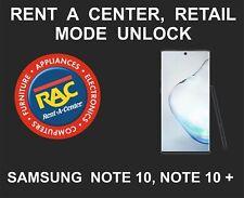 Samsung Rent A Center Unlock Service, Samsung Note 10, Note 10 Plus, 5G