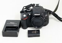 Nikon D D5100 16.2MP Digital SLR Camera Black Body ONLY 15K SHUTTER COUNT