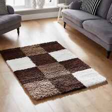 Quality Small to Extra Large Beige Cream Brown 5cm High Thick Pile Shaggy Rugs 60x120cm (2'x4')