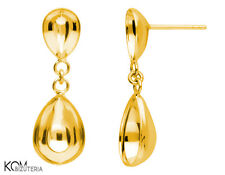 Stud earring for Swarovski 4320 10 and 14 mm KH 48 - gold-plated silver (1 pair)