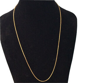 """Steel by Design Stainless Gold Plated Box Chain Necklace 28"""" Long QVC Signed GM"""
