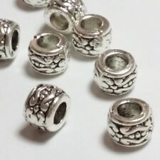 10pcs Tribal Donut Spacer Beads Antique Silver 5x7mm Jewellery Supplies - B00792