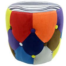 SOLEIL - Circulaire Tambour Tabouret / Pouf Siège - Multicolore OCH8000
