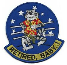 "US Navy F-14 Tomcat ""Retired, Baby"" patch"