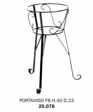 PORTAVASO PORTAFIORI PORTAPIANTE FERRO BATTUTO H.40 D23