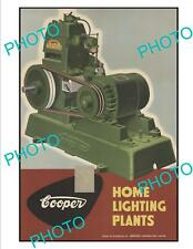 OLD LARGE HISTORIC SUNBEAM COOPER ENGINES ADVERTISING POSTER c1950s 2