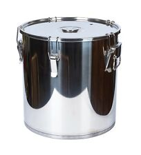 50L Stock pot fermenter stainless steel bucket with clips for BEER wine brew lid