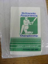 1985 Fixture List: Cricket - Britannic Assurance Championship, Fixture Booklet F