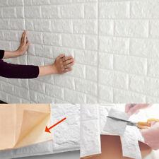 3D DIY PE FoamSelf Adhesive Panels Wall Stickers Embossed Brick Home Decor