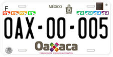 Oaxaca Mexico Any Name Number Novelty Auto Car License Plate C05