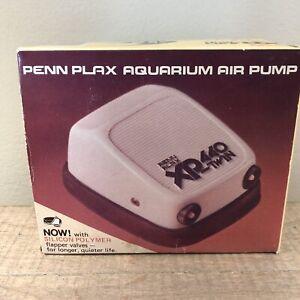 NOS Vintage Penn Plax XP-440 Twin Aquarium Air Pump 1980 Sealed