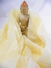 F793 Auspicious Tibetan Buddhist Silk Khada/ Khata Scarf Handmade in Nepal