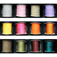 80m/Roll 38 Color Waxed Cotton Cord Strings For Macrame Jewelry Beads DIY Making