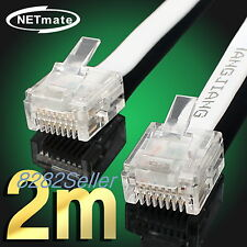 2M 6FT CAT6 Super Ultra Slim Flat Ethernet Patch Network Lan Cable RJ45 1GB  NEW