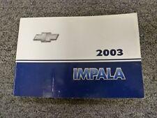 2003 Chevy Impala Sedan Owner Owner's Manual User Guide Book LS 3.4L 3.8L V6