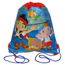 12 DISNEY JAKE & THE PIRATES Sport Drawstring Sling Bag Backpack PARTY FAVOR NEW