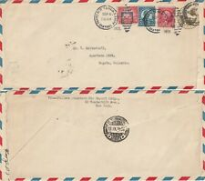 US 1933 COMMERCIAL FLIGHT COVER NEW YORK TO BOGOTA COLOMBIA