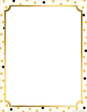 "Barker Creek Designer Computer Paper - Gold, 8-1/2 x 11"", 50 Sheets per Package"