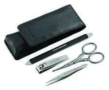 Tweezerman GEAR GROOMING KIT Tweezers/Clippers/Scissors/Nail File + Leather Case