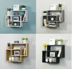 Space Saving Display Wall Floating Compartment Shelf Decorative Storage Shelves