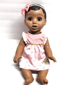 "Luva Bella Doll 17"" Dark Hair, Brown Eyes, Interactive Doll #22700 Works"