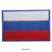Russia National Flag Embroidered Patch Iron on Sew On Badge For Clothes Bags etc
