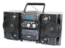 NEW PORTABLE MP3/CD PLAYER STEREO RADIO w/ CASSETTE PLAYER RECORDER USB + REMOTE