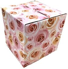 25 4x4x4 Rose Designer Boxes corrugated Cardboard Box Shipping Cartons Mailers