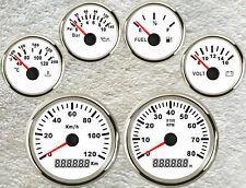 6 Gauge Set with Senders,Speedo,Tachometer,Fuel ,Temperature,Volt,Oil Pressure