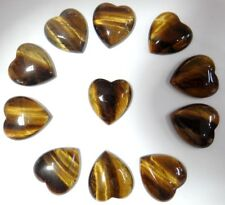 25*23mm tiger eye  Gem heart CAB CABOCHON Flat Back Beads Jewelry Design