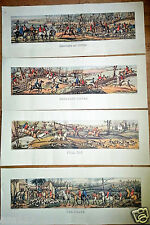 140 (35x4) Wholesale Job Lot Large Long Vintage Fox Hunting Horse Racing Prints