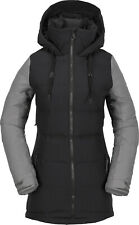 2019 NWT WOMENS VOLCOM ELIAS PUFF DOWN JACKET $300 S Black 10k waterproof