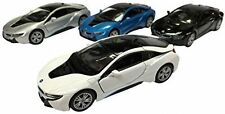 Set of 4:Kinsmart BMW i8 2 Door Coupe 1:36 Diecast Model Toy Car Pull Action New
