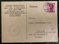1951 Vienna Austria Censored Postcard Cover To Gand Belgium