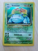 Pokemon Holo Rare Venusaur Base Set 15/102 Quality Pokemon Card NM/LP WoTC 1999